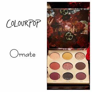 Colourpop eyeshadow palette ornate カラーポップ アイシャドウパレット カラポ