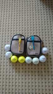 XXIO ゴルフボールホルダーケース☆ボール、マーカー、ティー付き2個セット