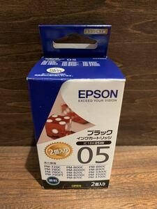 ☆使用期限2023.04☆ EPSON 純正インクカートリッジ エプソン純正インク IC1BK05W 2個入り エプソンインク エプソン ブラック 黒