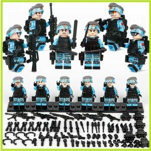 即決…MOC LEGO レゴ ブロック 互換 ARMY ロシア軍特殊部隊 アンチテロ部隊 カスタム ミニフィグ 6体セット 大量武器・装備・兵器付 D220