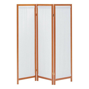 木製スクリーン(帆布)3連 HT-3 BR(a-1375285)