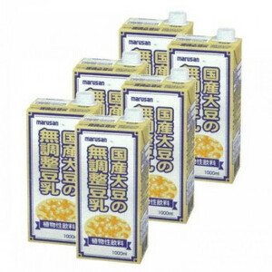 マルサン 国産大豆の無調整豆乳 1L×6本 9496(a-1682568)