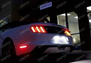 15~17Y フォード マスタング LED ライセンスランプ 左右 36SMD使用 純正交換 検) ナンバー灯 ラインセンス プレート ライト