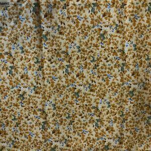 イエロー小花柄・カットクロス 110×37センチ