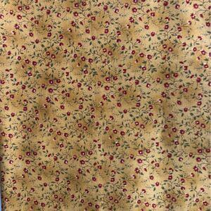 オレンジ系小花柄・コットンカットクロス 100×55センチ