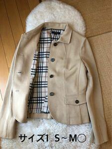 美品本物バーバリーBurberry上質コットンテーラードジャケット☆オススメ品