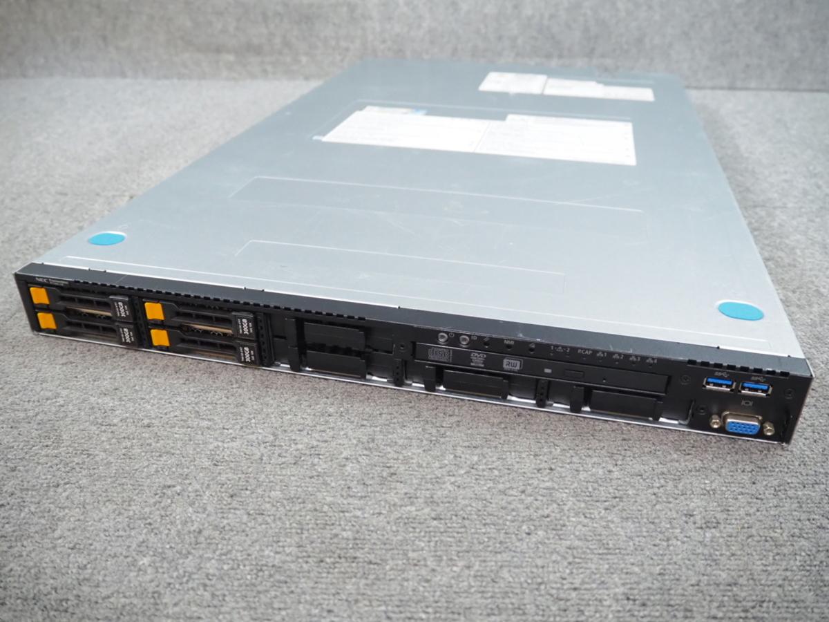 V1 ☆ 8コア×2個!高性能サーバー ☆ NEC Express5800/R120f-1E 8C E5-2640 v3 2.60G×1/32GB/300GB×4/RAID(MR9362-8i) ☆