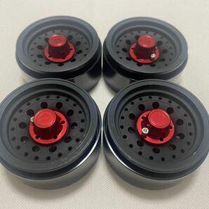 国内即納 黒 4本1セット ビードロックホイール 1.9インチ 高精度アルミ RCクローラー TRX4 SCX10 RC4WD CC02 アキシャル トラクサス タミヤ