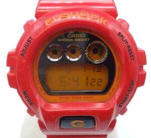 CASIO カシオ G‐SHOCK ジーショックDW-6900CB クォーツ メンズ 腕時計 レッド デジタル ラバーベルト 三つ目
