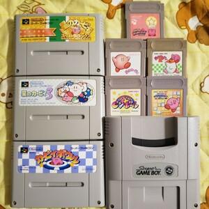 【動作確認済】Nintendo 星のカービィ8作品セット GB&SFC版セット!