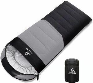 210T防水 寝袋 シュラフ 封筒型 軽量 キャンプ 丸洗い可能 収納袋付き