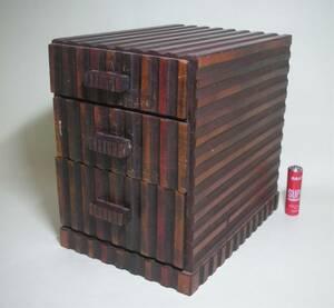 モダンな 木製 小引き出し 小物入れ 昭和レトロ