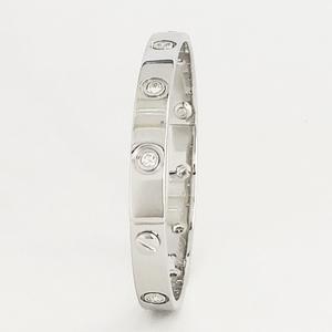 【中古】Cartier カルティエ ラブブレス フルダイヤ K18WG 10Pダイヤ バングル