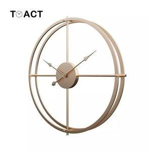 お洒落!壁掛け時計モダン/ゴールド/シンプルアナログ時計大型40cm 時計 アートアメリカンウォールクロック雑貨インテリア