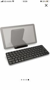 マイクロソフト キーボード Bluetooth対応/ワイヤレス/小型/テンキーレス コンパクト キーボード ミニマリストに