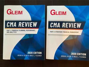 GLEIM CMA REVIEW PART1&2 未使用 最新2020年版