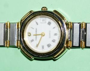 腕時計 CHARLES JOURDAN QUARTZ SWISSmade ホワイト盤 純正バンド 電池交換済 レディ