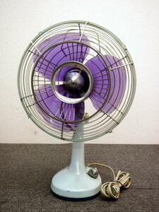 ⑪ 昭和レトロ 扇風機 三菱 DM-30NJ ブルー 1961年発売 60's ヴィンテージ 雑貨 インテリア 動作品