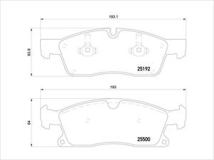 P50108:メルセデスベンツ M GLE GL GLSクラス W166 C292 X166 フロントブレーキパッド 0064203920
