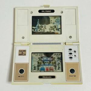 【動作品】GAME&WATCH ゲームウォッチ OIL PANIC オイルパニック OP-51 Nintendo 任天堂 LSIゲーム 現状品 ジャンク 希少 レア 当時物