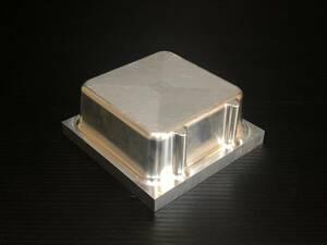 ●アルミ端材 140mm×140mm×厚60mm 2.5kg アルミブロック ③ アクセサリーやハンドメイドの加工材にもオススメ 管理:05