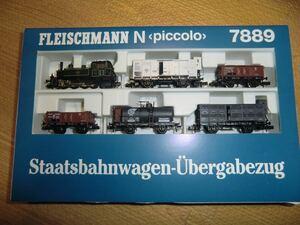 フライッシュマン Fleischmann 7889 バイエルン王立鉄道GtL 4/4 D型タンク機関車と古典貨車のセット 鉄道模型 Nゲージ 蒸気機関車 絶版