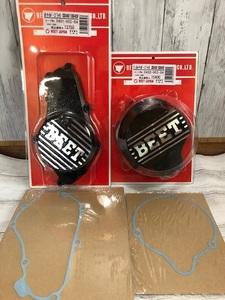 ☆新品 即決☆正規品 BEET CBX400F/CBX550F/CBR400F スターターカバー&ジェネレーターカバー(ブラック)ホンダ純正ガスケット付