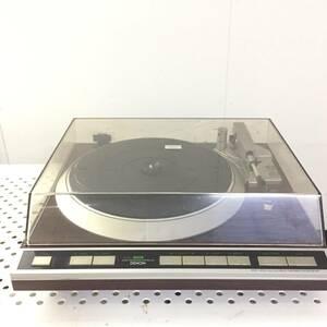 ▼DENON デノン ターンテーブル DP-45F レコードプレーヤー 通電確認済