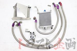 1100053341 HKS & DRL ツイン エンジン オイルクーラー スカイライン GT-R V-spec BNR32 後期 トラスト企画 U
