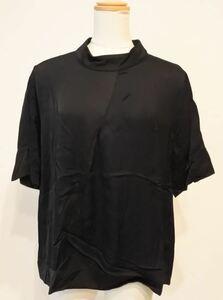 ZARA WOMAN ザラ カットソー プルオーバー 半袖 Mサイズ ブラック とろみ感 ymdnrk a201h0724