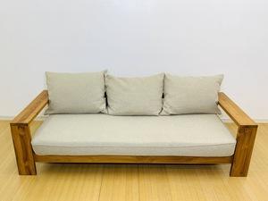 ◎ unico BREATH ウニコ ブレス 3Pソファ 3人掛けソファ 北欧 チーク材 参考価格132,000円 ナチュラル