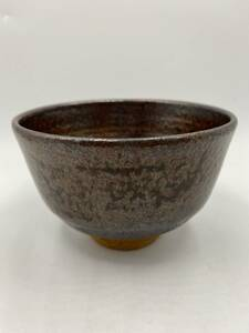L17 茶碗 抹茶碗 茶器 茶道具 煎茶道具 在銘 勇 工芸品 陶器 同梱可 検)和食器 古道具 茶器 器