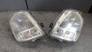 スズキ H21年 MH23S ワゴンR 純正 コイト 100-59192 レベライザー付き ヘッドライト 左右 03-07-13-123 B2R-3