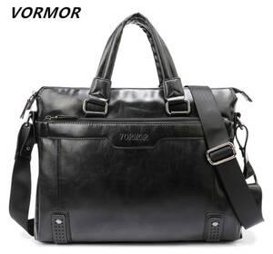 ブリーフケース メンズ VORMOR 高級海外ブランド レザー ヴィンテージ 選べる2色 ハンドバッグ ビジネスバッグ (a1324)