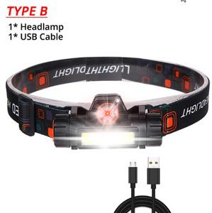 ★最安値★ 12000LM 強力なヘッドライト USB 充電式ヘッドランプ内蔵バッテリーヘッドライト 防水ヘッドトーチキャンプヘッドランプ