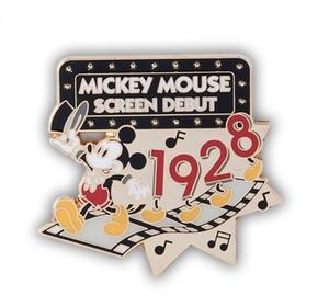 送料込 ミッキー  スクリーンデビュー記念 ピンバッジ ディズニーランド 35周年 ハピエストセレブレーション 1928