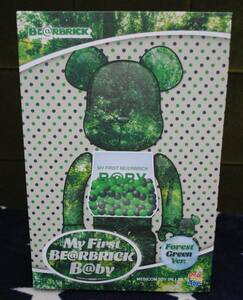 MY FIRST BE@RBRICK B@BY FOREST GREEN Ver. 100% & 400%★千秋★メディコムトイ★ベアブリック