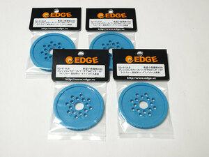 【M461】EDGE SG-6118LB プレシジョンカラースパーギア64ピッチ 118T 4セット 新品(検:ライト ブルー ラジコン パーツ スペア ドリフト)