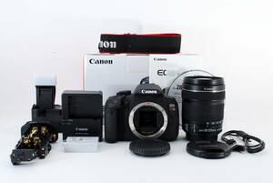 ◆極美品◆Canon キャノン EOS Kiss X7i + EF-S 18-135mm F:3.5-5.6 IS STM + バッテリーグリップ BG-E8 元箱付 即決送料無料