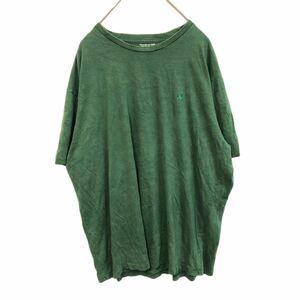 YR280 AY ポロラルフローレン Polo by Ralph Lauren 半袖 Tシャツ クルーネック ビッグサイズ ワンポイント刺繍ロゴ グリーン 緑
