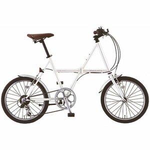 """サカモトテクノ) マラッカ 6S 白折りたたみ自転車20""""Xフレームでスポーティな折りたたみ"""