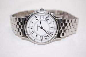 ティファニー TIFFANY&CO クラシックラウンド ホワイト文字盤 SS クォーツ ボーイズサイズ ユニセックス腕時計