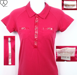 《郵送無料》■Ijinko◆Diesel (ディーゼル) XS サイズ半袖ポロシャツ