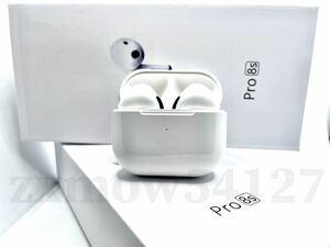 【 Pro8s 】AirPods Pro型 Pro8s イヤホン TWS 充電ケース付 ワイヤレスイヤホン Android iPhone8 X 11 12 Bluetooth 高音質