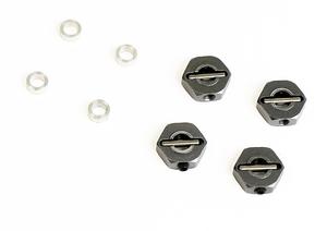 タミヤ型 六角アルミホイールハブ 4.5mm  2.5mmスペーサー付  1/10 ラジコン ドリフト ツーリングシャーシ