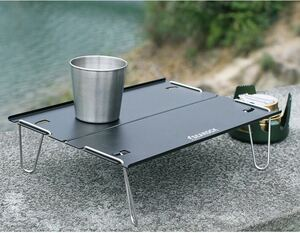 アウトドアテーブル 折りたたみ ミニ 軽量 コンパクト アルミ 収納袋 折り畳み