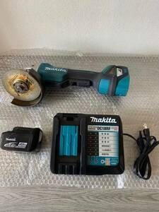 used makita Makita 125mm rechargeable disk g line daGA518D charger + battery set