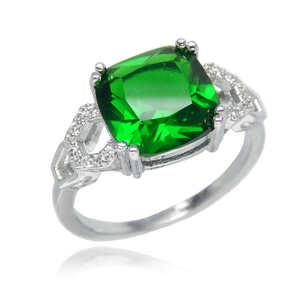 極上の逸品 14号 豪華 厳選 極大粒 約3.63ct CZエメラルドダイヤモンドリング 指輪 レディース 必見 オススメ 限定 絶品 プラチナ仕上