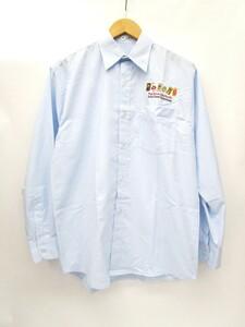 企業物 激レア 富士ゼロックス fuji xerox asia pacific 長袖 シャツ 刺繍古着 90s ビンテージ M ライトブルー メンズ/028