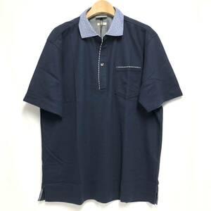 ●○新品 未使用 JOSEPH ABBOUD ジョセフアブード メンズ 2L 半袖 ポロシャツ 麻 オーガニック○●